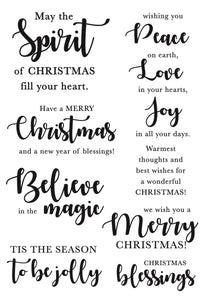 Clear Stamp, Sentiments - Mix & Match - Christmas