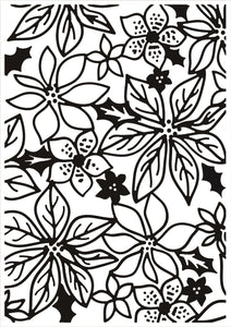 Embossing Folder, Poinsettia