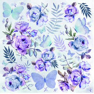 12X12 Patterned Paper, Amethyst - Full Moon