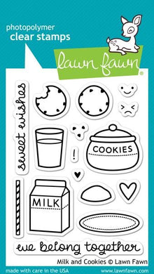 Clear Stamp Set, Milk and Cookies