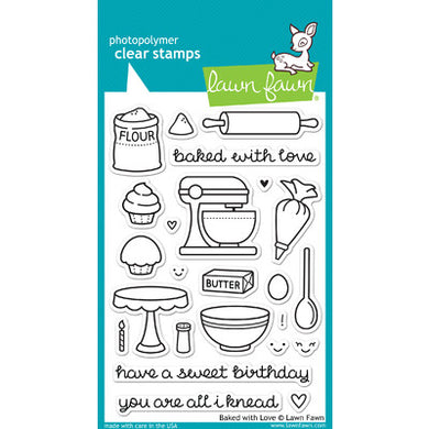 Clear Stamp Set, Baked with Love