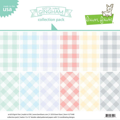 LAWN FAWN: Gotta Have Gingham - Collection Pack 12x12