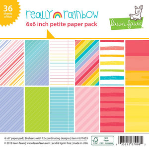 LAWN FAWN: Really Rainbow - Petite Paper Pack 6x6