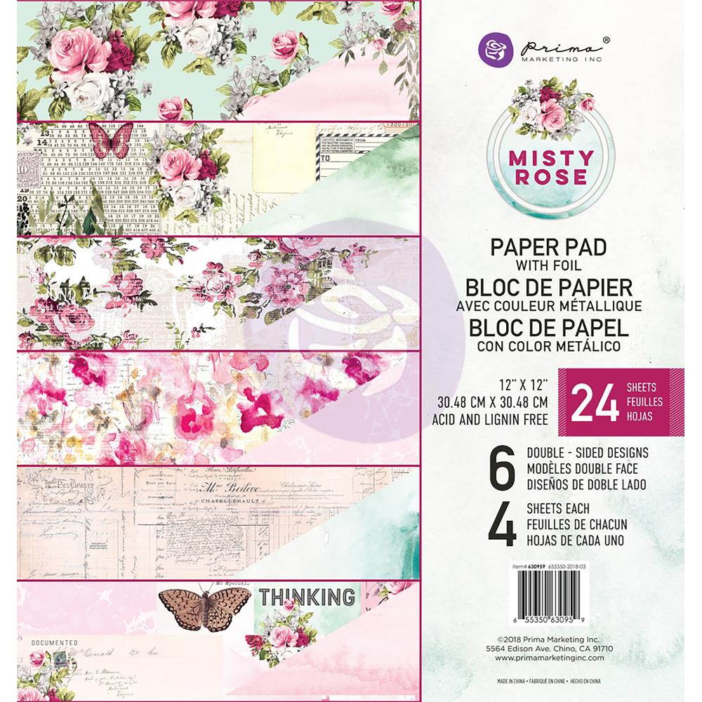 Misty Rose - Prima Marketing Double-Sided Paper Pad 12
