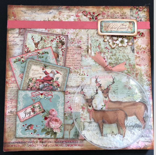 Class#2 - Mixed Media Christmas Canvas (12 x 12 inches)