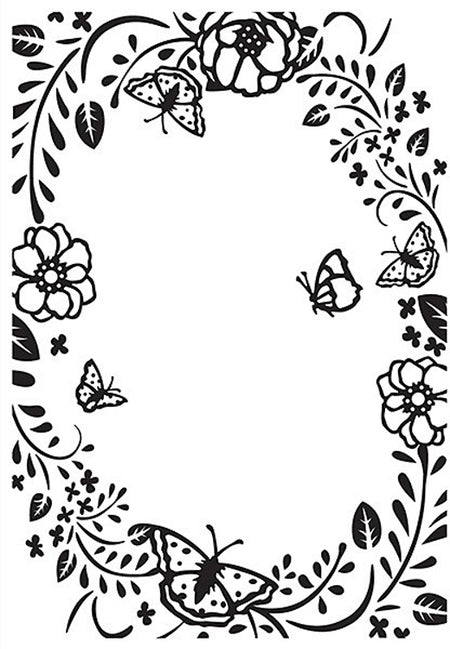 Nellie's Choice - Hobby Solution Embossing Folders - Butterfly Frame