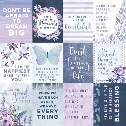 12X12 Patterned Paper, Amethyst - Jewel