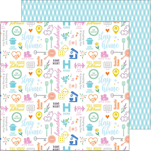 12X12 Patterned Paper, Let's Stay Home - Stay Home - Pre-order ETA June 8th