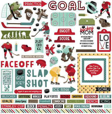 Element Sticker Sheet, The Hockey Life,12X12