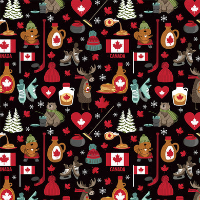 Patterned Paper, O Canada 2 - I Love Canada, 12X12
