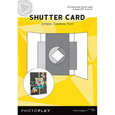 Card, Maker's Series - Shutter W/Circle Die (3pc)