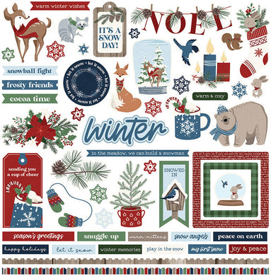 Element Sticker Sheet, Winter Memories, 12X12