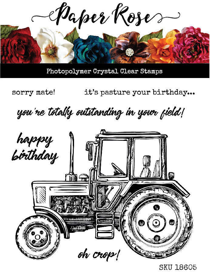 Clear Stamp, Vintage Tractor