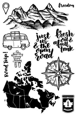 ROAD TRIP! - 4X6 STAMP SET