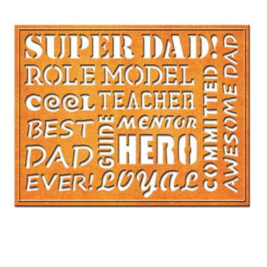 AWESOME DAD CARD CREATOR ETCHED DIES