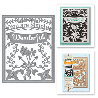 SIMPLY SAID SIMPLY WONDERFUL DECORATIVE CARD FRONT CARD CREATOR ETCHED DIES
