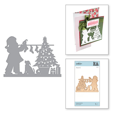 HANGING STOCKINGS ETCHED DIES -  A SWEET CHRISTMAS BY SHARYN SOWELL