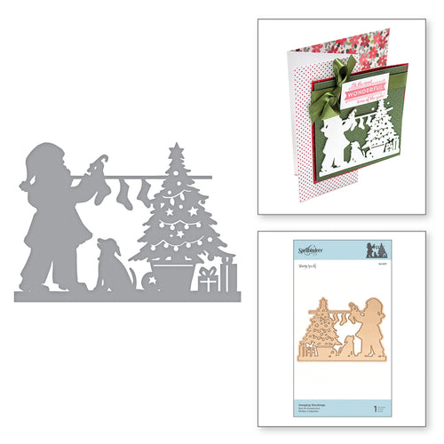 SHAPEABILITIES HANGING STOCKINGS ETCHED DIES -  A SWEET CHRISTMAS BY SHARYN SOWELL