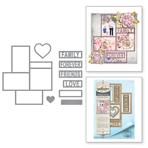 FRIENDS & FAMILY FRAMES ETCHED DIES -  TIMELESS HEART COLLECTION BY MARISA JOB