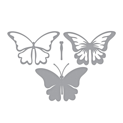 SHAPEABILITIES LAYERED BUTTERFLY -  ETCHED DIES - EXCLUSIVE!