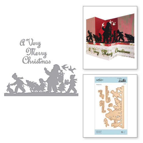 SHAPEABILITIES SANTA PARADE -  ETCHED DIES,  A SWEET CHRISTMAS BY SHARYN SOWELL