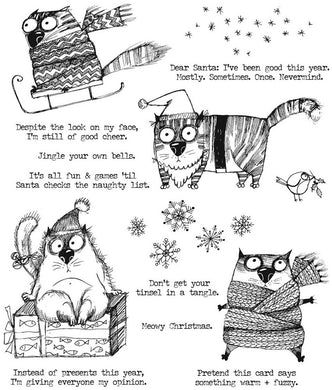 Cling Stamp, Snarky Cat Christmas