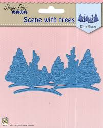 Nellie's Choice - Shape Die Scene with Trees