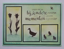 Clear Stamp Silhouette Duck With Chicks