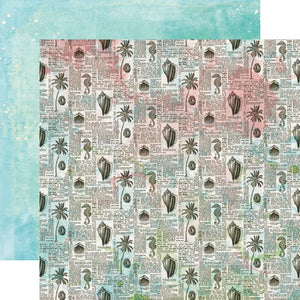 12X12 Patterned Paper, Simple Vintage Coastal - Sea You Soon
