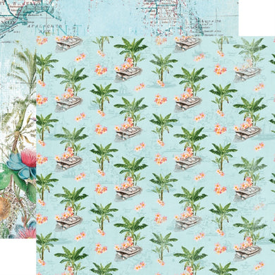 12X12 Patterned Paper, Simple Vintage Coastal - Tropical Life