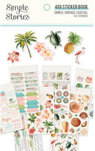 4X6 Sticker Book, Simple Vintage Coastal