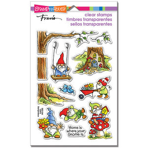 Stampendous Perfectly Clear Stamps Gnoming Around