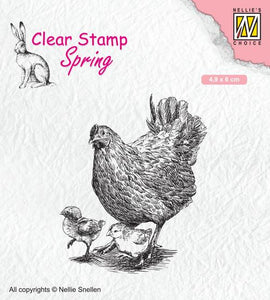 Clear Stamp Spring Mother Hen With Chicks