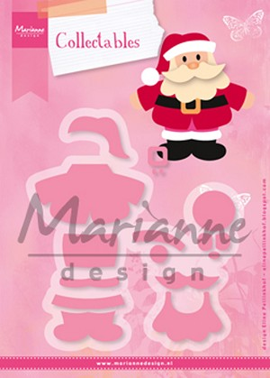 Marianne Design: Collectables Die & Stamp Set - Eline's Santa - Christmas