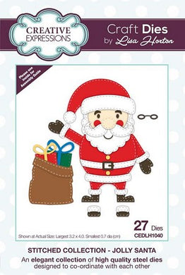 Stitched Collection Jolly Santa Craft Die - DISC