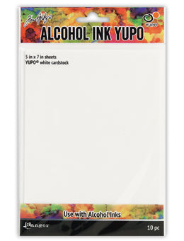 ALCOHOL INK YUPO PAPER - WHITE 10 PK