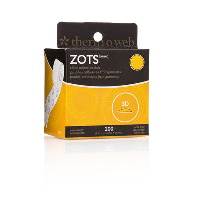 Zots Roll, 3D 200 Dots (1/2 In. Dia. X 1/8 In. Thick