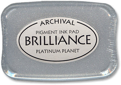 Brilliance Ink Pad, Planet Platinum
