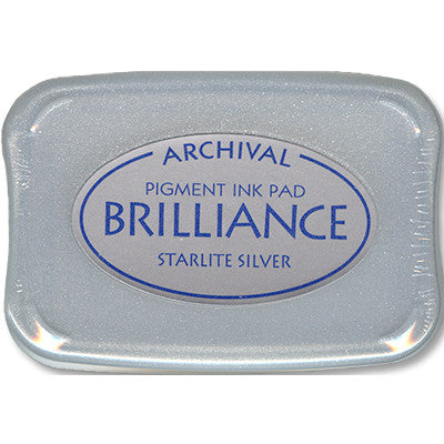 Brilliance Ink Pad, Starlite Silver