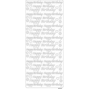 Papicolor Peel Off Gem Stickers -Happy Birthday Black
