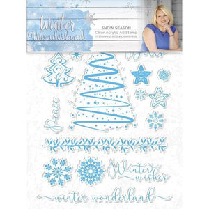 Crafter's Companion - Acrylic Stamps - WInter Wonderland - Snow Season