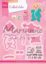 Marianne Design: Collectables Die & Stamp Set - Eline's Baby