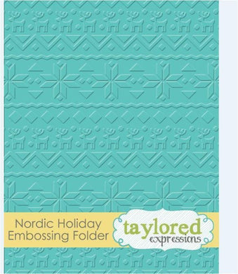 EMBOSSING FOLDER - Nordic Holiday