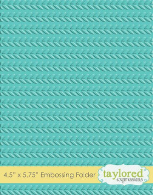 EMBOSSING FOLDER - CABLE KNIT
