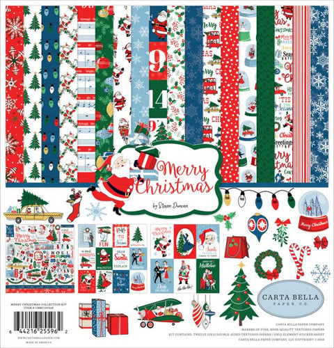 Carta Bella MERRY CHRISTMAS 12 x 12 Collection Kit