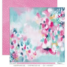 Happiness 12x12 Paper - Expressive  DISCONTINUED Limited Stock
