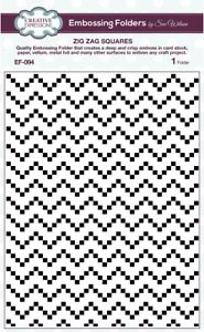 Creative Expressions Embossing Folder 5 3/4 x 7 1/2 Zig Zag Squares