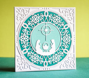 Pinpoint Snowflake Circle Frame craft die  (Multiple Die Set)