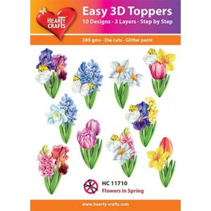 Easy 3D Toppers: Flower's in Spring