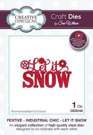 Festive Industrial Chic Collection Let it Snow - Christmas